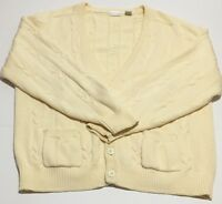 Brian MacNeil Knitwear Men's Vintage Extra Large XL Cable-knit Cardigan Beige