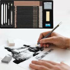 USA 29pcs Professional Pencils SET Sketching Drawing Paint Art Kit Tools Utility