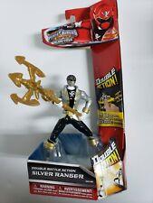 Power Rangers Super Megaforce Silver Ranger Double Battle Action