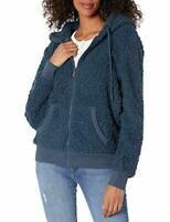 Marc New York Performance Women's Teddy Fleece Full Zip Hooded Jacket TEAL XL