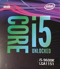 *NEU* Intel i5-9600K CPU BOX Prozessor, 6-Core 3,7GHz Coffee Lake LGA1151
