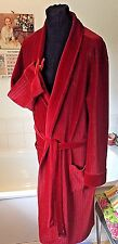 "vintage M&S 1970's soft Triacetate (Nylon) Velour red dressing gown ~ L 42""R"