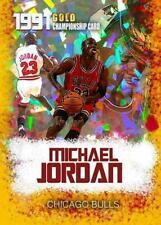 1991 Michael Jordan Cracked Ice Gold Championship Limited Card. Chicago Bulls