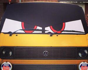 VW Type 25 Bus Eyes screen cover / wrap Buseyes Angry eyes Black - Worldwide