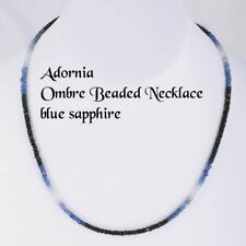 Adornia Ombre Beaded Necklace, Blue Sapphire, NWT $298