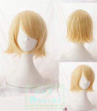 Japanese Anime Vocaloid  Kagamine Rin Party Cosplay Wig Yellow Short Wigs Hair