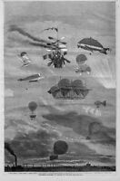 FLYING SYSTEMS OF SAILING IN THE AIR HOT AIR BALLOON OF 1864 FLYING MACHINES