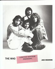 the who limited edition press kit