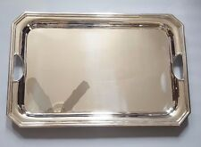 RALPH LAUREN HOME LARGE CARRIGAN SILVER PLATED BRASS SERVING TRAY