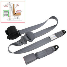 Universal Car SUV 3-Point Safety Retractable Seat Belt Lap & Diagonal Belt -Gray