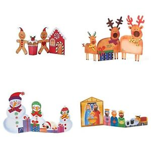Tri-fold Novelty Christmas Cards  (10 cards & envelopes / boxed)