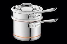 New All Clad Copper Core Double Boiler, saucepan 1 1/2-Qt.  *FREE Ship
