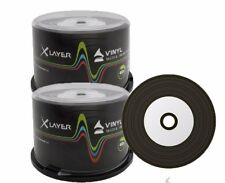 100 Xlayer Negro Inferior Vinilo CD-R Discos en Blanco Imprimible CD 48x 700 MB blanco