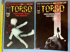 1998 TORSO 1 & 2 Image Comic Book Brian Michael Bendis Marc Andreyko Jinx 90s