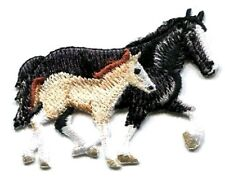 HORSE MOTHER AND BABY IRON ON PATCH   2 1/2 X 2 inch