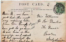 Genealogy Postcard - Family History - Williams - Buxton - Derbyshire  U2423