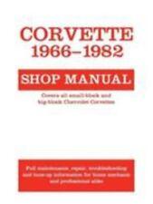 Corvette 1966-82  Shop Manual Paperback Excellent Unread
