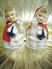 Vintage Relco Little Red Riding Hood Salt & Pepper Shakers with O. Tags Figurine