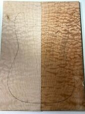 #279 Quilted Maple Drop Top Luthier Tonewood Figured Bookmatched Set