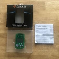 Genuine GREEN VMU - VISUAL MEMORY UNIT - SEGA DREAMCAST - NEW & BOXED Retro