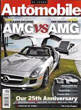Automobile Magazine Mercedes Sls Amg McLaren Nissan Gtr Chrysler 300 Bmw Series