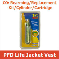 CO2 Rearming Kit for Manual Inflatable Life Jacket PFD CO2 Replacement Cartridge