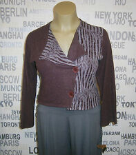Kekoo: modische Lagenlook Jacke kuschelweich dunkelrot/grau Gr. II (42/44) NEU