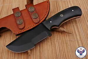 TRACKER 1095 CARBON STEEL TRACKER HUNTING KNIFE WITH MICARTA HANDLE - ZS 83