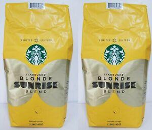 Starbucks Blonde Sunrise Blend (Limited Edition) Ground Coffee 80 oz 5LB