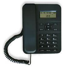 TELEFONO da ufficio PA105 con display, vivavoce, NERO