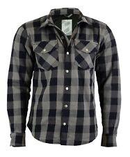 Shirt LUMBERJACK Holzfällerhemd Motorrad Biker Grau INKL  PROTEKTOREN Hemd Neu