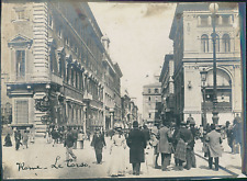 Italie, Rome, Vue du Corso, ca.1910, vintage silver print Vintage silver print w