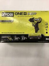 "Ryobi ONE+ HP 18V Compact Brushless 1/4"" Impact Driver Kit PSBID01K NIB"