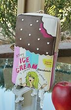 BETSEY JOHNSON RETIRED Ice Cream Sandwich Wristlet Cosmetic Bag NWT