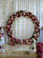 Wedding arch UPS(3-5 day) Wedding backdrop Wedding archway Metal Circle arch 7ft