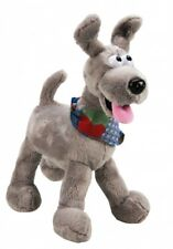 ABGEE PLUSH POSABLE DOG WITH NECKERCHIEF 24CM CUDDLY DOG TOY BRAND NEW WITH TAG