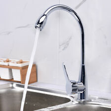 Chrome Kitchen Wash Basin Hot or Cold Mixer Water Tap Faucet With Two Hose
