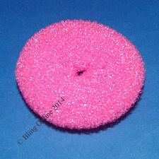 NEW Bright Pink PICCOLE 6.5 cm CAPELLI CHIGNON Schiuma Spugna EX Shaper ANELLO RING Styler