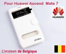 Top Qualite Flip Cuir COQUE HOUSSE ETUI  POUR GSM  Huawei Ascend Mate 7 Blanc