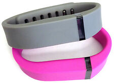 2 large Combo Pink, Grey for FitBit Flex Wristband/Bracelet
