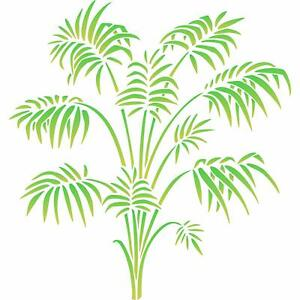 Bamboo Palm Stencil Reusable Victorian Parlor Palm Frond Foliage Wall Template
