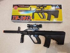 TD-2013 Kids Toy Military Assault Rifle Gun with Flashing Lights Sound Vibration