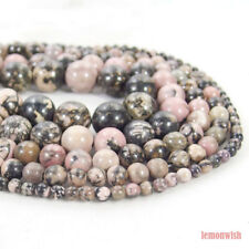 Natural Rhodonite Gemstone Spacer Beads 15.5'' 2mm 3mm 4mm 6mm 8mm 10mm 12mm DIY