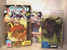 SPAWN FIGURES X2 VIOLATOR /SPAWN Action figures includes Full size Comic book