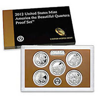 2012-S Proof Clad Quarter Sets in Fresh Mint Boxes with COAs
