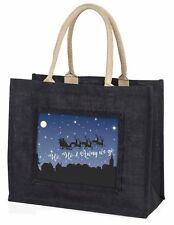 Large Black Shopping Bag Christmas Present Idea      , HO-HO1BLB