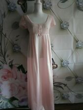 Christian Dior Lingerie Vintage Women Lace Nightgown Size 44 Pink long nightgown