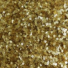 3mm Flat Round Sequins Rich Egyptian Gold Shiny Metallic. Made in USA