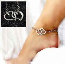 Women Wife Sterling Silver Plated Anklet Ankle Bracelet Fashion Jewelry Gift A02