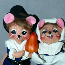 New listing Annalee Doll Christmas Thanksgiving Mr. Mrs. Pilgrim Mouse Htf 2005 Usa Seller